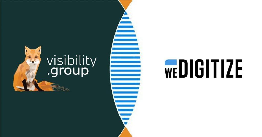 Visibility Group er nu en del af We Digitize